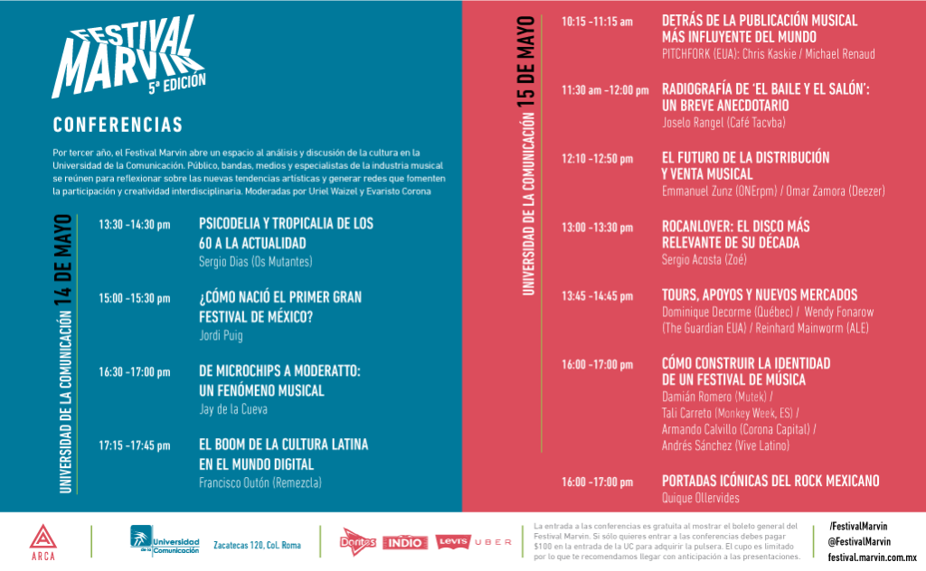 #FestivalMarvin: Conferencias.