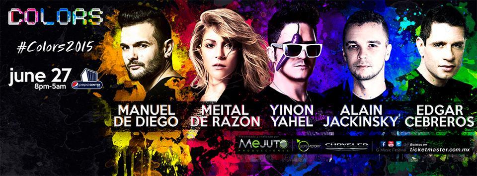 """G Music Fest """"Colors"""" en el Pepsi Center WTC."""