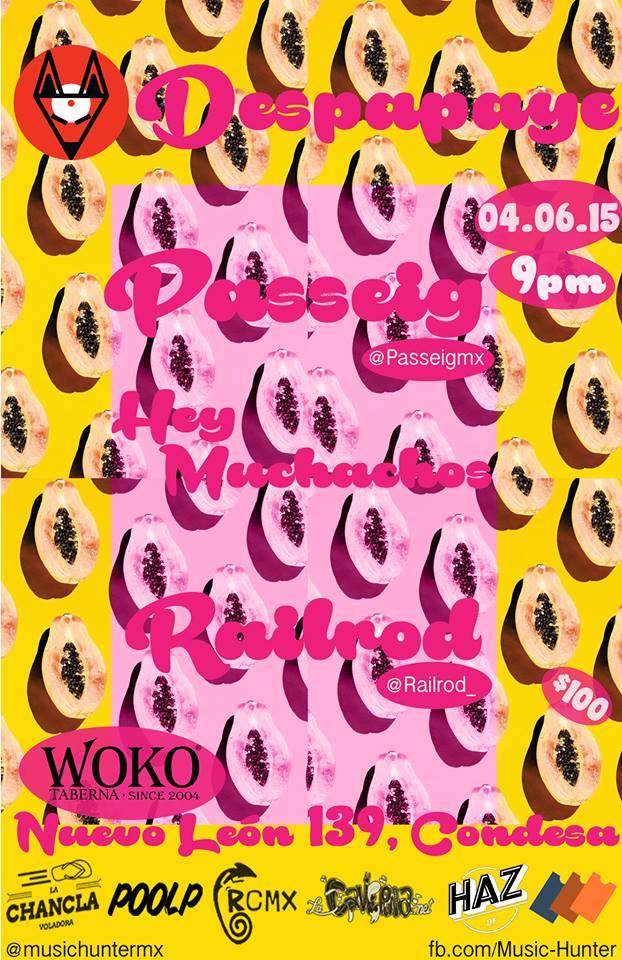 ¡Todos al 'Despapaye' que organiza  Music Hunter en Woko Condesa!