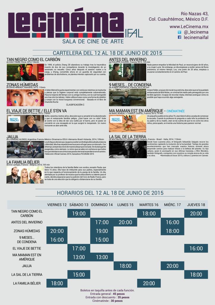 Le Cinéma IFAL: Cartelera del 12 al 18 de junio.