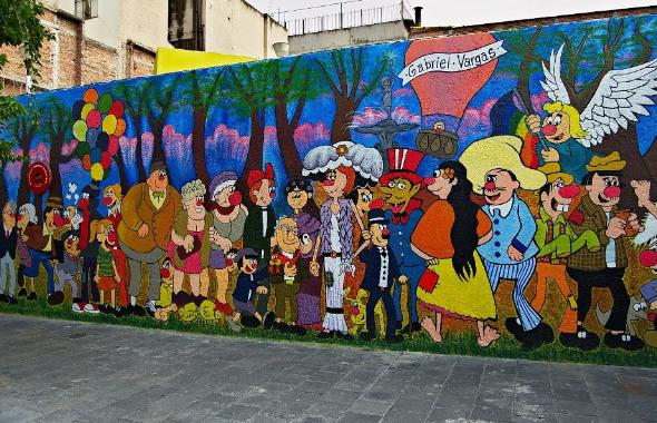 Calles de m xico el otro sue o de una tarde de domingo for Mural una familia chicana