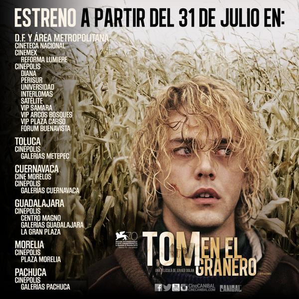 'Tom en el granero' a partir del 31 de julio.