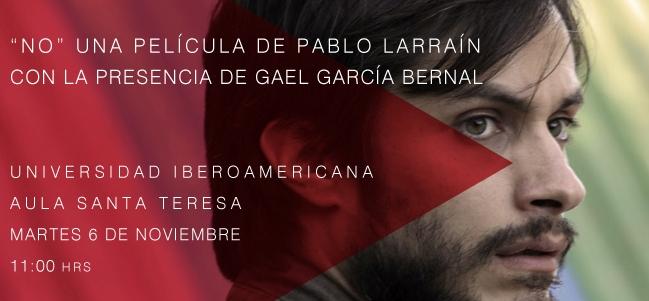 'No' con Gael García presente
