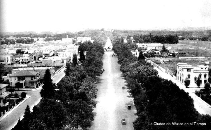 Paseo de la Reforma desde la Columna de la Independencia