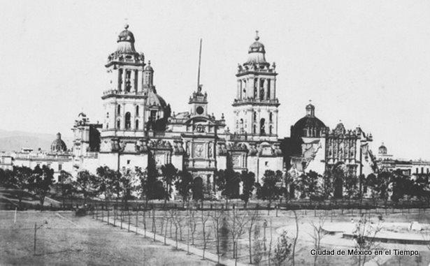 La Catedral Metropolitana a mediados del siglo XIX