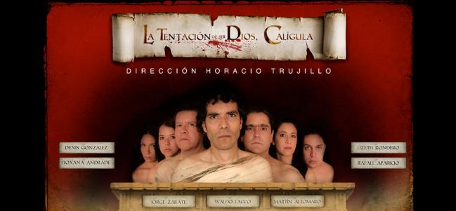 Teatro romano en el Círculo Teatral: La tentación de ser Dios, Calígula.