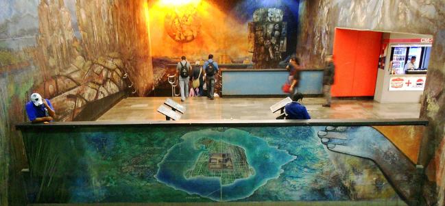 Próxima estación: El mural de Tacubaya.
