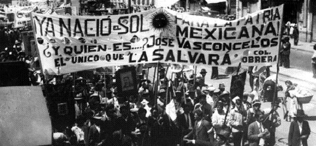 Mitin a favor de José Vasconcelos, candidato a la presidencia por el Partido Antirreleccionista, 3 de octubre de 1929.