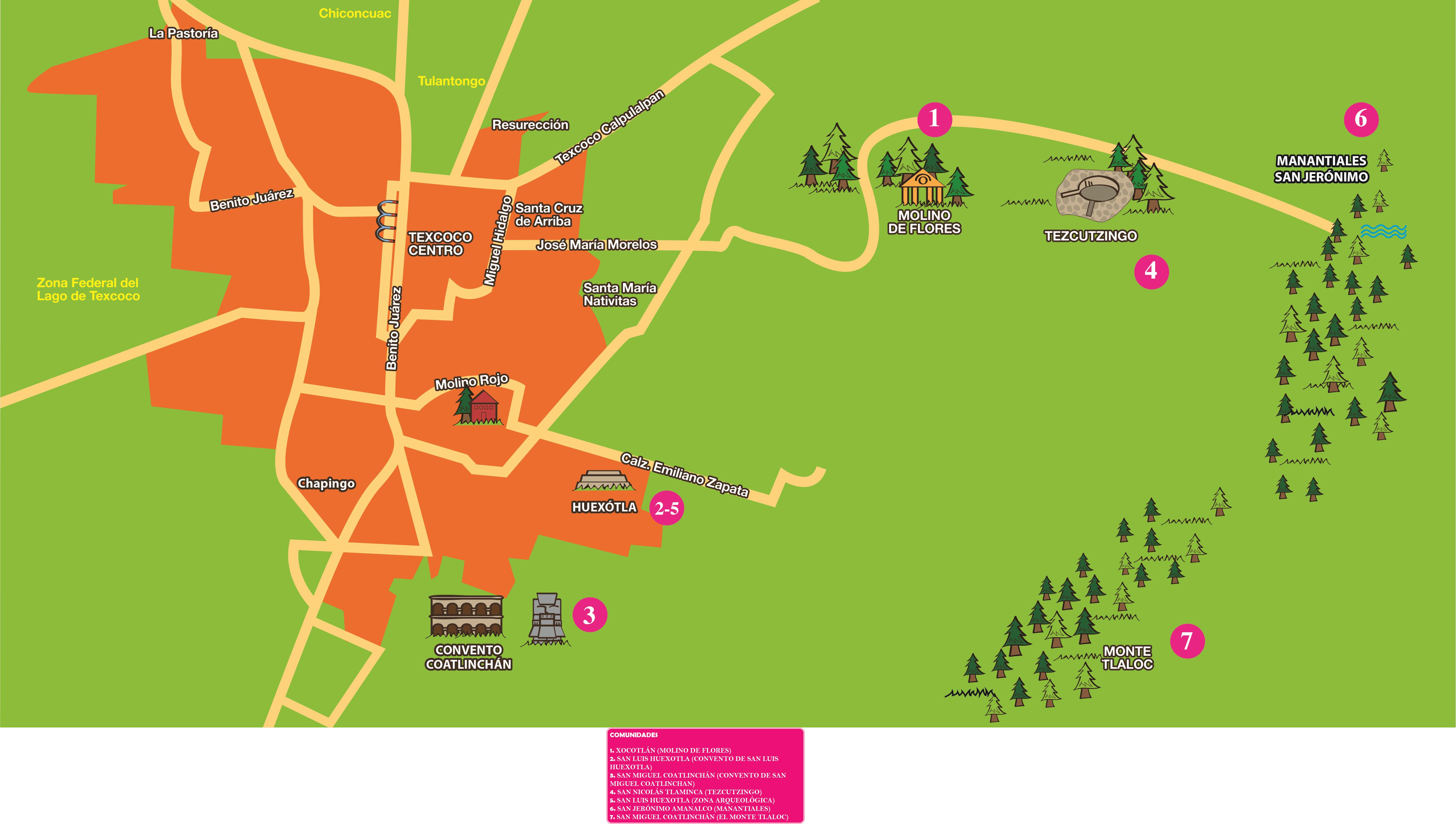 ¿Cómo llegar a Tezcucingo? (Imagen del H. Ayuntamiento de Texcoco)