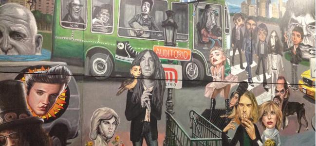 Próxima estación: El mural de Auditorio Nacional.