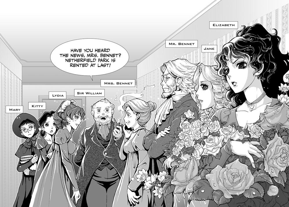 Adaptación de un clásico a 'manga': 'Orgullo y prejuicio'.