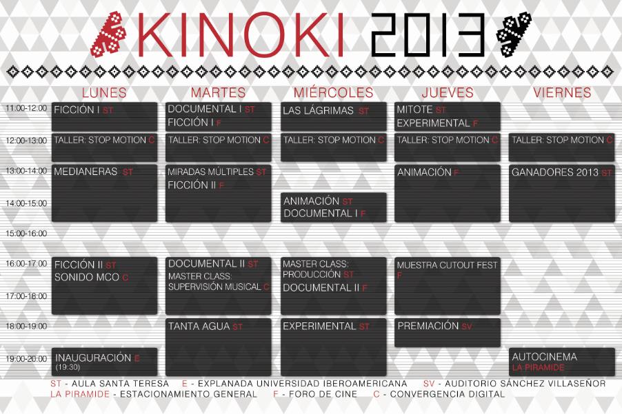 Programación KINOKI 2013.