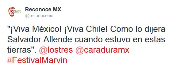 #FestivalMarvin: ¡Viva México! ¡Viva Chile!