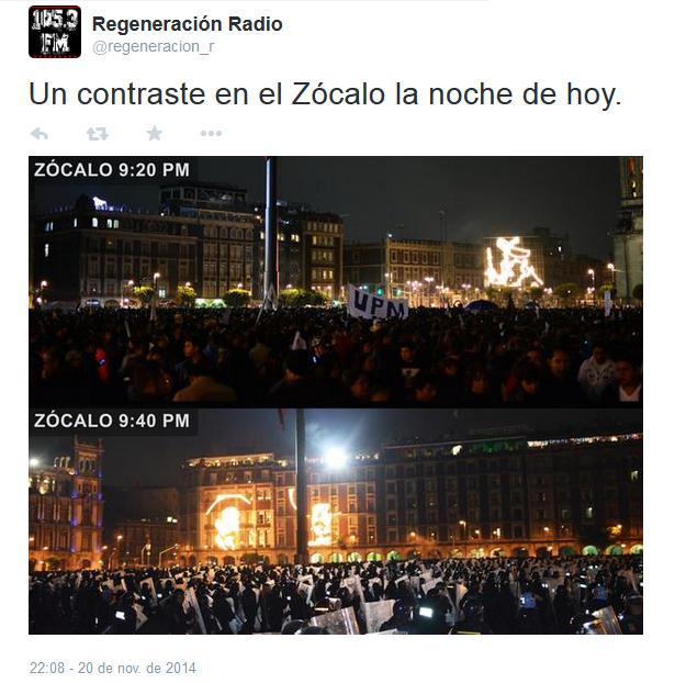 'Tensa calma', una crónica de la marcha del #20NovMx.