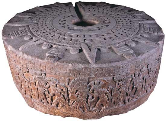 Piedra de Tizoc encontrada en diciembre de 1791.