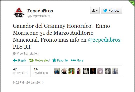 Ennio Morricone regresa a la Ciudad de México.