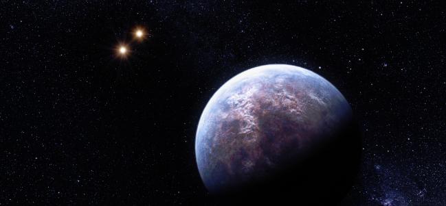 Impresión de un artista del planeta Gliese 667Cc (Cortesía ESO/L. Calçada).